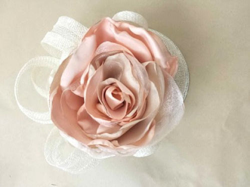 JayMay Fascinator: Peach Rosette