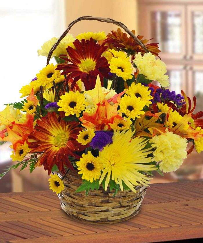JHT142 Harvest Basket Bouquet